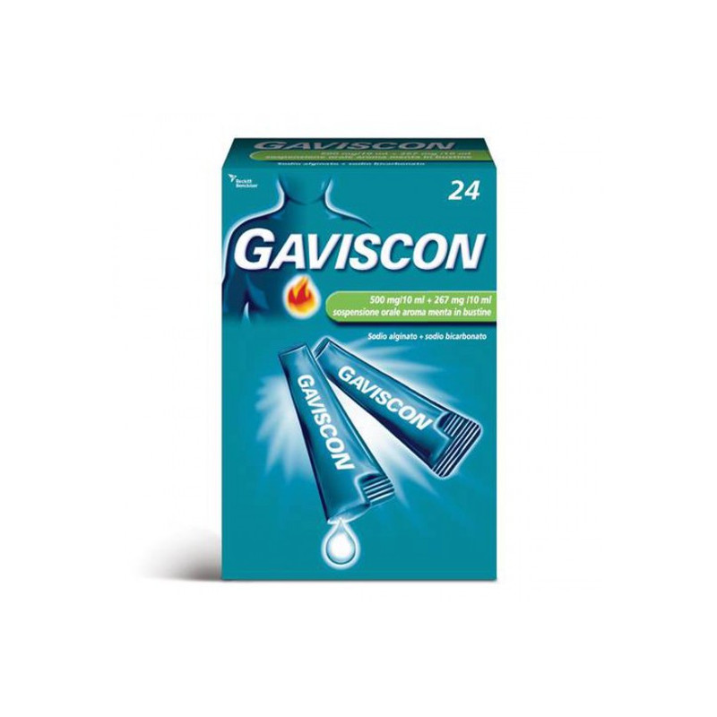 GAVISCON*24BUST 500 piu 267MG 10ML